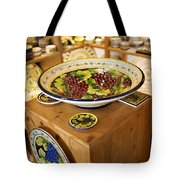 Hand Painted Dishes Tote Bag