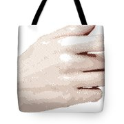 Hand - Parallel Hatching Tote Bag