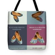 Hand Printed Embroidered Women Jutti Tote Bag