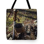 Hand Pump In The Fall Tote Bag