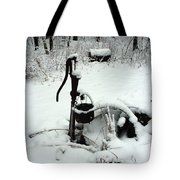 Hand Pump In The Winter Tote Bag