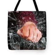 Hand Through Window. Tote Bag