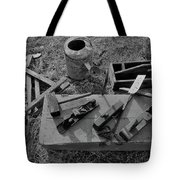 Hand Tool Box Bw Tote Bag