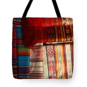 Hand Woven Table Cloths Tote Bag
