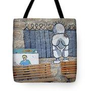 Handala And The Wall Tote Bag