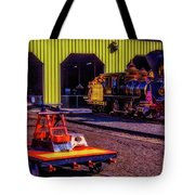 Handcar And Old Train Tote Bag