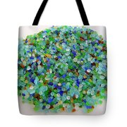 Handful Of Sea Glass Tote Bag