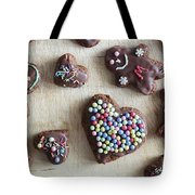 Handmade Decorated Gingerbread Heart And People Figures Tote Bag