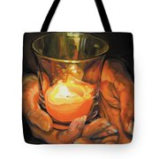 Hands By Candlelight Tote Bag
