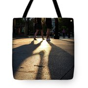 Hands In Sunset Tote Bag