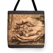 Hands Of Poverty Tote Bag