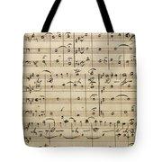 Handwritten Score Tote Bag