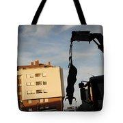 Hanging Bull Tote Bag