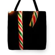 Hanging Candy Cane Tote Bag
