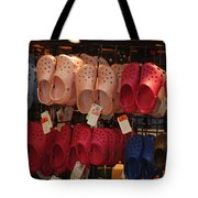 Hanging Crocs Tote Bag by Rob Hans