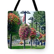 Hanging Flower Baskets In A Park Tote Bag