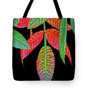 Hanging Green And Red Leafs... Tote Bag