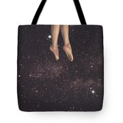 Hanging In Space Tote Bag