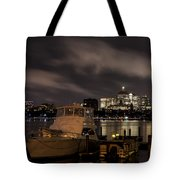 Hanging Onto A Cloud John Hancock Tower Boston Ma Tote Bag