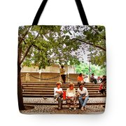 Hanging Out In Manhattan Tote Bag