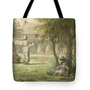 Hanging Out The Laundry By Jean-francois Millet Tote Bag