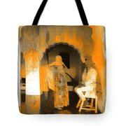 Hanging Out Travel Exotic Arches Orange Abstract Square India Rajasthan 1c Tote Bag