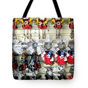 Hanging Out With Mickey And Minnie Tote Bag