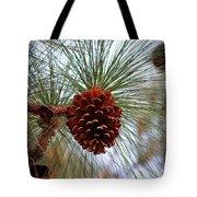 Hanging  Pine Cone Tote Bag