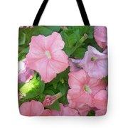 Hanging Pink Petunias Basket Tote Bag
