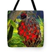 Hanging Red Bottle Garden Art Tote Bag