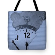 Hans Clock Cyan Tote Bag