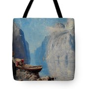 Hans Dah,  B. 1849. D. 1937. Norwegian Girl By The Sea Tote Bag