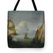 Hans Goderis Dutch Shipping At Sea, 1615 Tote Bag