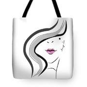 Hanyidesigns Beautiful Girl Tote Bag