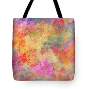 Happiness Abstract Painting Tote Bag