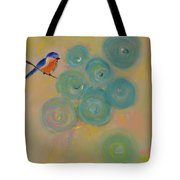 Happiness In Blue  Tote Bag