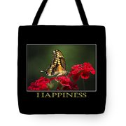 Happiness Inspirational Poster Art Tote Bag