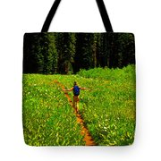 Happiness Is A Trail Tote Bag
