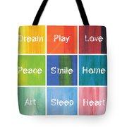Happy 9 In 1 Tote Bag
