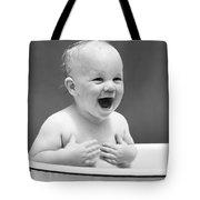 Happy Baby In Tub, C. 1940s Tote Bag