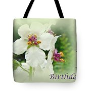 Happy Birthday - Floral - Moth Mullein Tote Bag