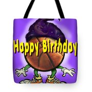 Happy Birthday Basketball Wiz Tote Bag