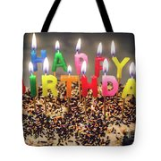 Happy Birthday Candles Tote Bag