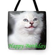 Happy Birthday Kitty Tote Bag