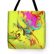 Happy Birthday Lilac Breasted Roller Abstract Tote Bag