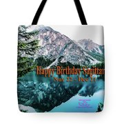 Happy Birthday Sagittarius Tote Bag by Beauty For God
