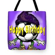 Happy Birthday Soccer Wizard Tote Bag