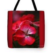 Happy Bright Geranium And Design Tote Bag
