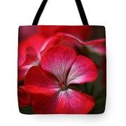 Happy Bright Geranium Tote Bag