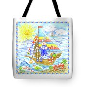 Happy Bunny On The Boat Tote Bag